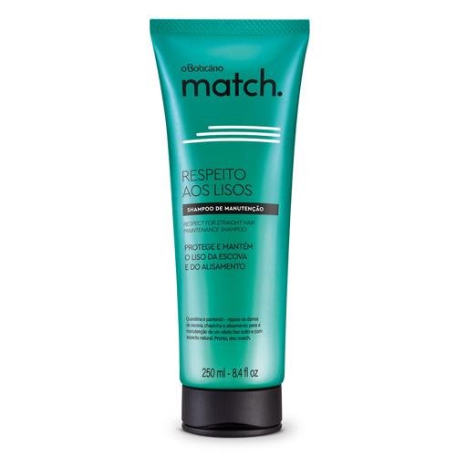 ブラジル人気No.1のコスメブランド オ ボチカリオ O Boticario ついに入荷 人気激安 マッチ シャンプー ストレート Match de BT202387 250ml LISOS Shampoo New Manutencao aos Respeito