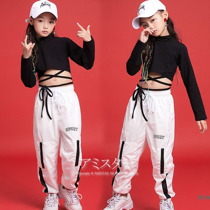 Arrival at arrival at parka jacket long sleeves dance clothes hip,hop dance  clothes setup HIPHOP dance clothes kids exercise gym suit long underwear