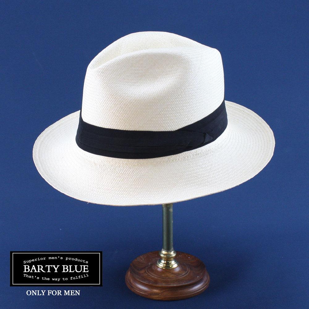 輸入商社がお勧めする本格パナマハット  【送料無料】Barty Blue / バーティークリスティ 編込みの密度が違います! 大人の本格パナマハット 全体的なバランスにも優れています 名入れ可能 パナマ帽メンズ エクアドル プレゼント