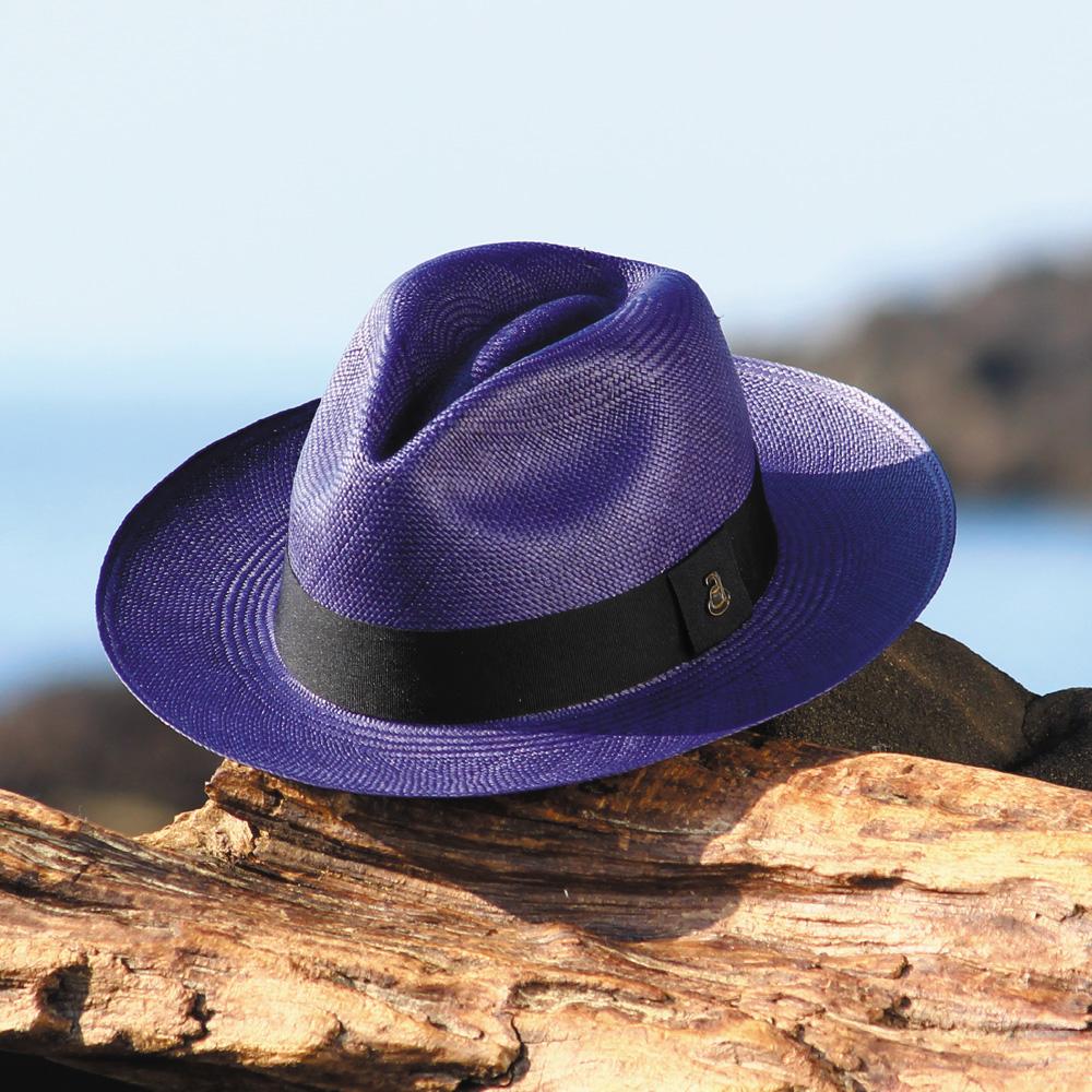 【送料無料】パナマハット Ecua Andino エクア・アンディーノ / クラシック・ブルーマリン 【エクアアンディーノ社の公式輸入業者】   本物だから語れる風格 名入れOK ギフトに最適 パナマ帽 エクアドル直輸入 公式ブランド お洒落 カラー