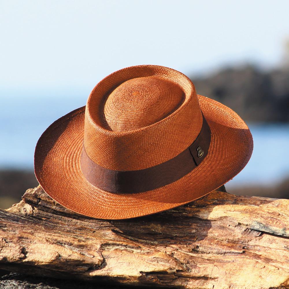 【送料無料】パナマハット 着物・浴衣 カンカン帽子タイプ Ecua Andino エクア・アンディーノ / デュモント(ブラウン) 証明書付き 名入れ出来ます 本物のパナマハットをお探しの方に! ギフトに最適 パナマ帽 エクアドル直輸入 公式ブランド お洒落