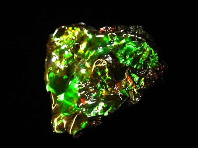 約7000万年前の神秘が宿る化石宝石の原石片 稀少カナダ産アンモナイト実物レア化石 アンモライト破片 大幅値下げランキング かけら 欠片 送料無料激安祭
