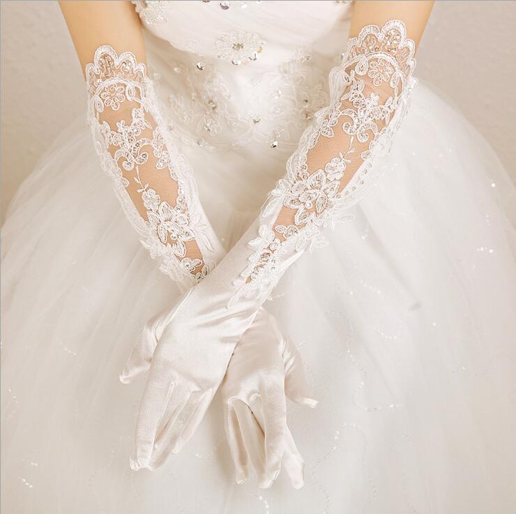 メール便送料無料 ウェディングドレス小物 ロンググローブ セール 登場から人気沸騰 グローブ ウェディング 小物 ブライダル 結婚式 ブライズメイド 即納 発表会 手袋 『1年保証』 オフホワイト スパンコールと刺繍入りウエディンググローブ 花嫁