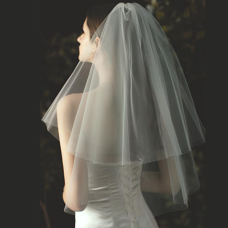 金属製コーム付 ウエディング ウェディング 結婚式 ブライダル 2次会 ウエディングドレス 花嫁 ヴェール 買い物 即納 ウエディングベール カラー:オフホワイト ショート丈 ベール フェイスアップベール シンプルなショートベール 年末年始大決算