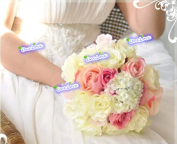 Immediate Delivery Wedding Bouquet Rose Roses Antique Silk Fl Were Artificial Flowers Party