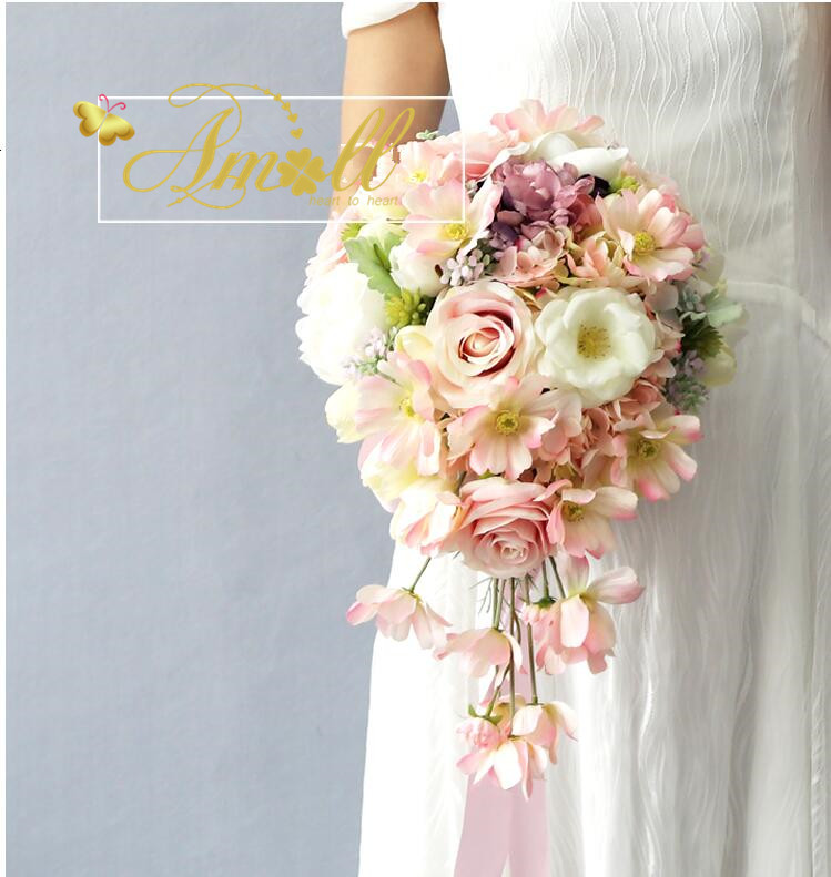 Artificial Wedding Bouquets.Immediate Delivery Wedding Bouquet Rose Roses Antique Rose Silk Fl Were Artificial Wedding Wedding After Party Wedding