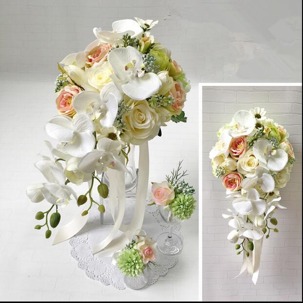 Silk Flowers Wedding Bouquets.A Wedding Bouquet Cass Cade Bouquet Artificial Flower A Wedding A Wedding Ceremony The Second Party A Wedding A Concert A Graduating Students