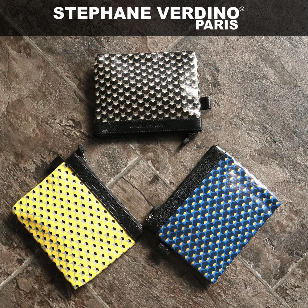STEPHANE VERDINO ステファンヴェルディーノ HEXAGONE POCHETTE-M ポーチ 60%OFF ストアー 幾何学模様 小物入れ 六角形柄 お値打ち価格で レディース Mサイズ