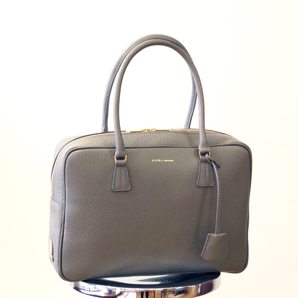 ADMJ シュリンク ボストンバッグ(A4)(ad168)(送料無料)(代引手数料無料)シンプル 無地 ハンドバッグ