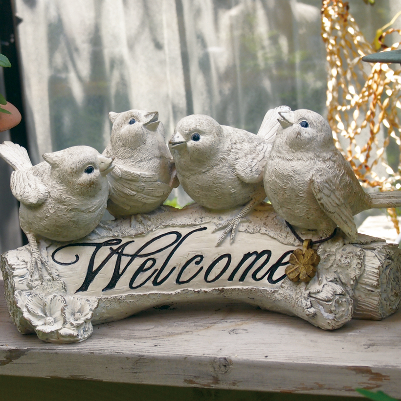ガーデンオーナメント オブジェ 動物 アニマル 【本日限定!全品P5倍】 ガーデンオーナメント バード 玄関 ウェルカム ガーデン 置物 ガーデニング オーナメント 庭 園庭 鳥 小鳥 可愛い 可愛い雑貨