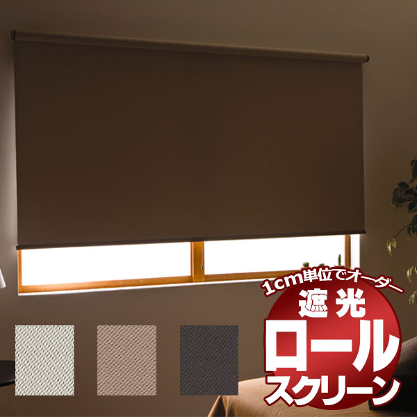 【送料無料】ロールスクリーン 目隠しや間仕切りとしても使用可能 ロールカーテン 木ネジタイプ 既製品 アルティス 遮光タイプ ●135x220cm