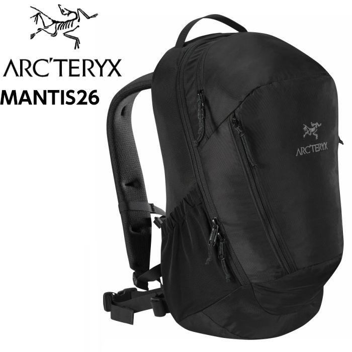 アークテリクス ARC'TERYX Mantis 26L Backpack Black2 ビジネスバック 26L 正規輸入品 バックパック タウンユース L06901500