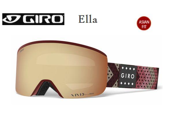 【お買物マラソン期間P5倍】GIRO Ella ASIAN FIT Scarlet Mo' Rockin' Vivid Copper 20 + Vivid Infrared 58 スペアレンズ付き ジロ スキー ゴーグル レディス