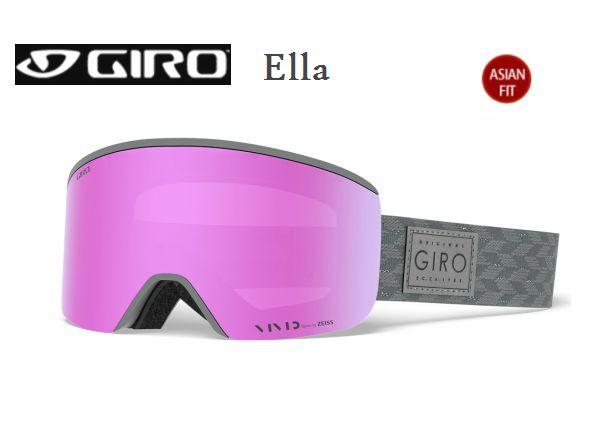 【お買物マラソン期間P5倍】GIRO Ella ASIAN FIT Titanium Shimmer Vivid Pink 35 + Vivid Infrared 58 スペアレンズ付き ジロ スキー ゴーグル レディス