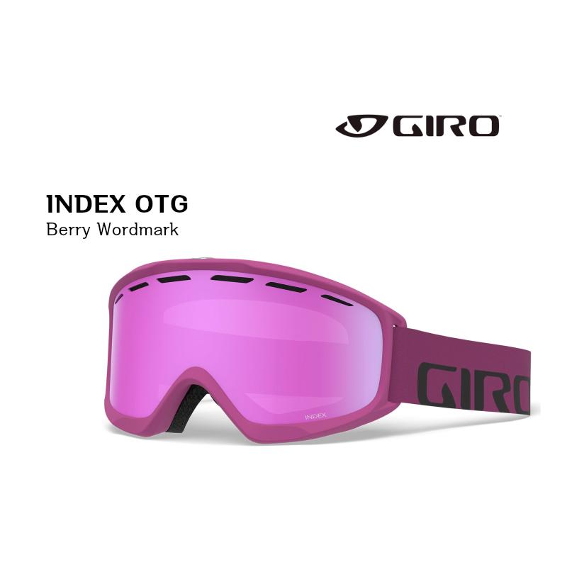 ジロ 2019 2020 GIRO INDEX OTG AF BERRY WORD PNK27 ジロ インデックス スノーゴーグル 眼鏡対応モデル