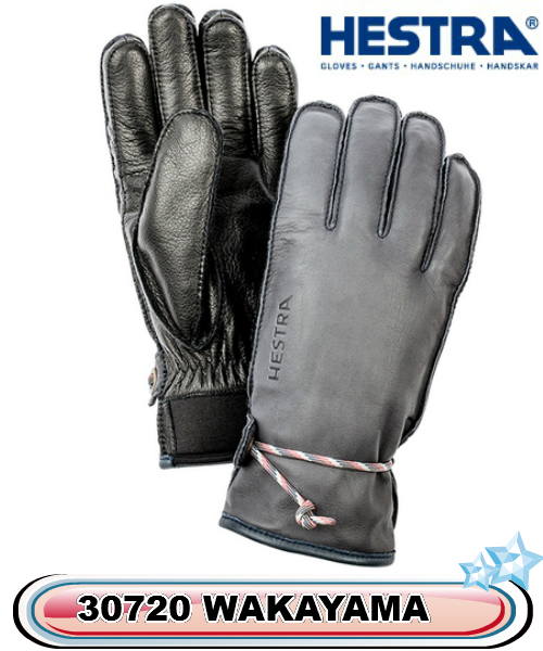 スキー グローブ HESTRA へストラ柔らかい革 30720 WAKAYAMA 350100 GREY BLACK メンズ レディス