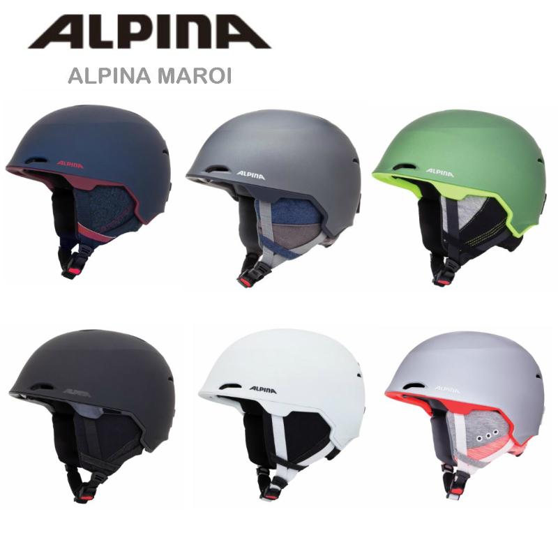 【お買物マラソン期間P5倍】2018/2019モデル ALPINA MAROI スノーヘルメット アルピナフィット感 ユニセックス スキー スノボ スノーボード