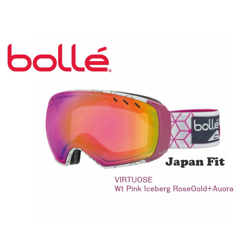 【お買物マラソン期間P5倍】BOLLE ボレー ゴーグル VIRTUOSE Wt Pink Iceberg RoseGold+Auora スキー スノボ
