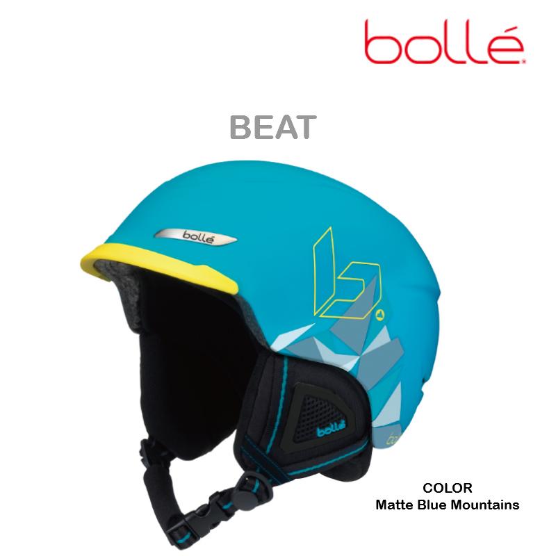 【お買物マラソン期間P5倍】2018/2019 BOLLE BEAT Matte Blue Mountains ヘルメット 軽量 取り外し可能イヤーパット搭載