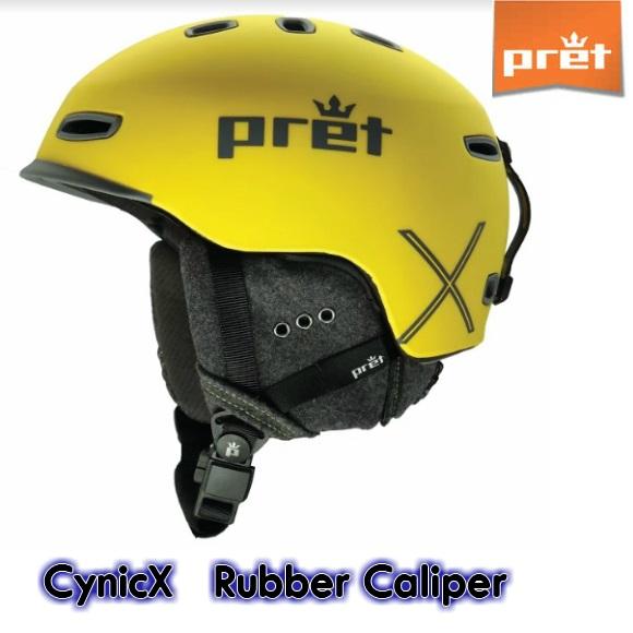 スキー ヘルメット【Pret】プレット Cynic-X シニック Rubber Caliper スノボ スノーボード MIPS
