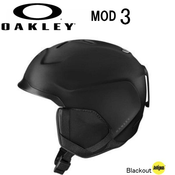 【お買物マラソン期間P5倍】【OAKLEY】オークリー スノー ヘルメット MOD3 MIPS BLACKOUT スキー スノーボード 2019 ミップス