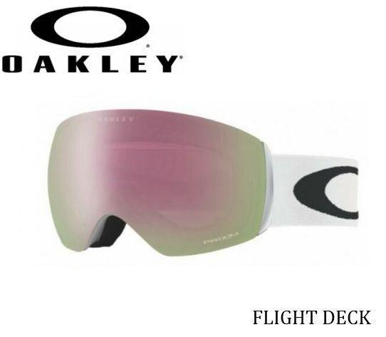 【お買物マラソン期間P5倍】OAKLEY Flight Deck Polished White Prizm Hi Pink Iridium オークリー スノーゴーグル スキー スノーボード oo7074-04