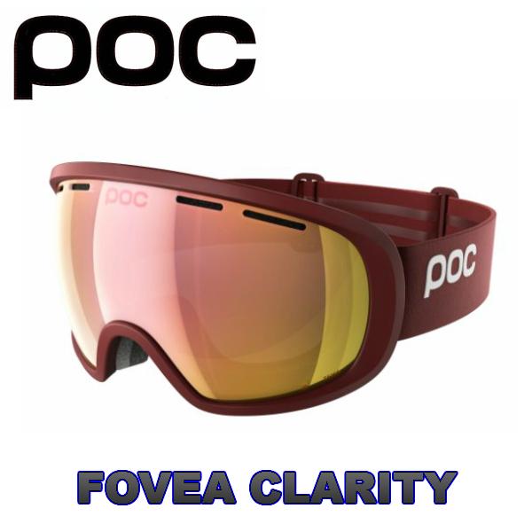 POC ポック Fovea Clarity Lactose Red スキー スノボ 広い視野 スノーゴーグル フォーヴィア クラリティー 球面