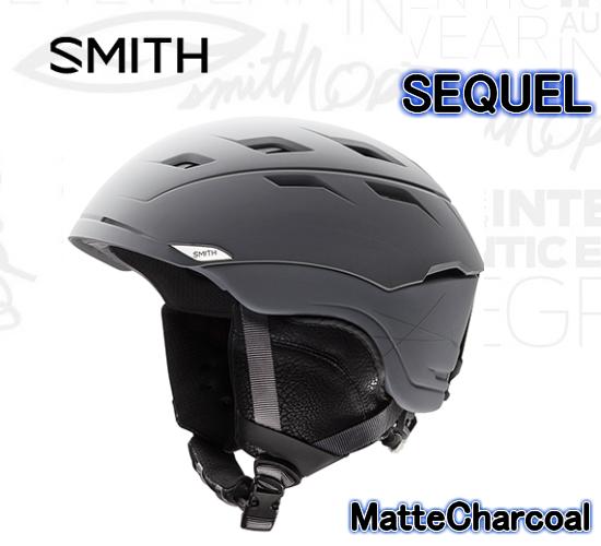 【お買物マラソン期間限定大特価】2018 SMITH SEQUEL Matte Charcoal スミス ヘルメットシークエル スノーボード スキー スノボ ヘルメット