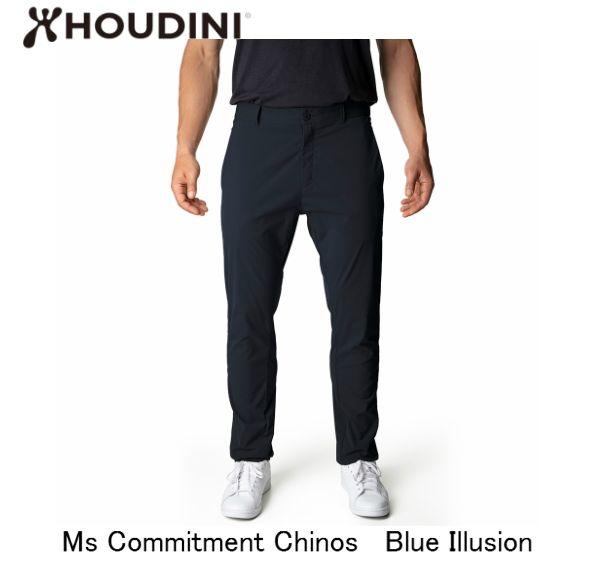 フーディニ HOUDINI Ms Commitment Chinos Blue Illusion メンズ コミットメント パンツ アウトドア