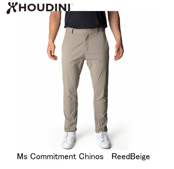 フーディニ HOUDINI Ms Commitment Chinos Reed Beige メンズ コミットメント パンツ アウトドア