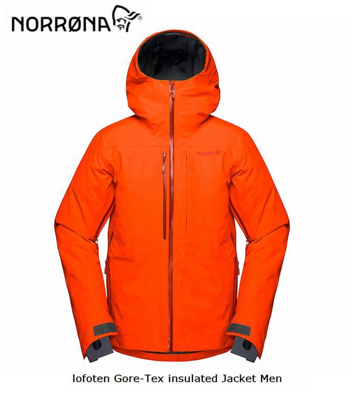 2020 NORRONA ノローナ lofoten Gore-tex ゴアテックス  NORRONA lofoten Gore-tex insulaed Jacket Men Scarlet Ibis メンズ ロフォテン ゴアテックス インサレーテッド ジャケット