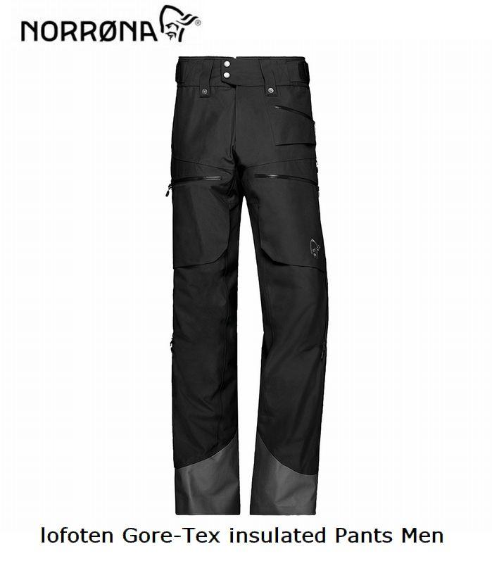 ノローナ NORRONA lofoten Gore-tex insulaed Pant Men Caviar メンズ ロフォテン ゴアテックス インサレーテッド パンツ