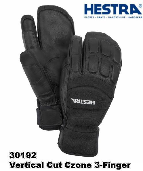 2020 HESTRA 30192 Vertical Cut Czone 3-Finger ヘストラ バーティカル カット シーゾーン 3フィンガー 高い機能性 Black