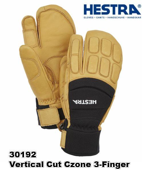 2020 HESTRA 30192 Vertical Cut Czone 3-Finger ヘストラ バーティカル カット シーゾーン 3フィンガー 高い機能性 BlackTan