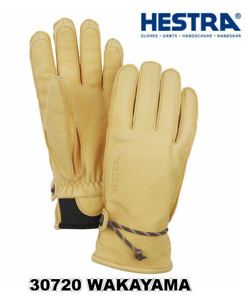 ヘストラ HESTRA 30720 WAKAYAMA 700 NaturalBrown 柔らかい革 スキー グローブ メンズ レディス