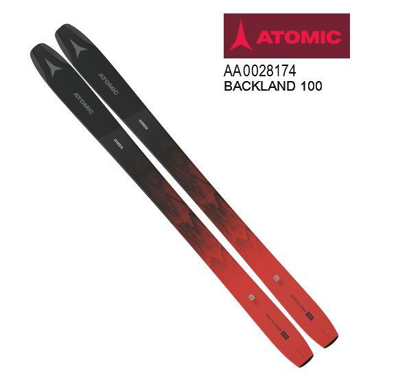 アトミック 2020 2021 ATOMIC BACKLAND 100 BLACK RED  板のみ パウダー 20 21
