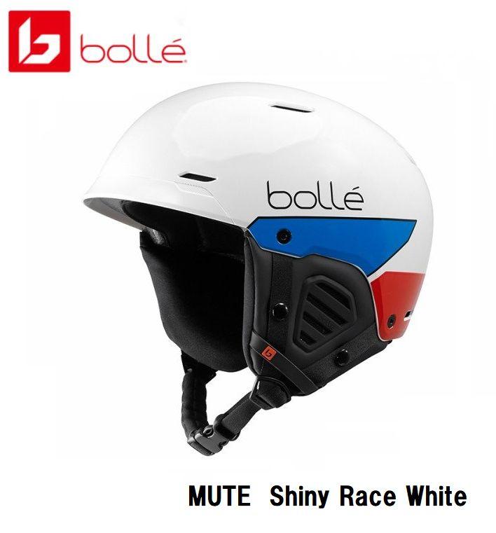 ボレー BOLLE MUTE Shiny Rece White ボレー ヘルメット スキー スノボ