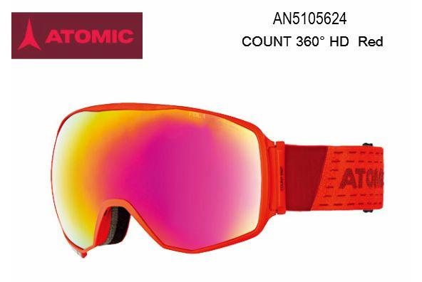 【お買物マラソン期間P5倍】2020 ATOMIC COUNT 360° HD Red アトミック スキー ゴーグル スノボ スノーボード