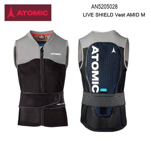 【お買物マラソン期間P5倍】2020 ATOMIC LIVE SHIELD Vest AMID M アトミック バックプロテクター BlackGrey