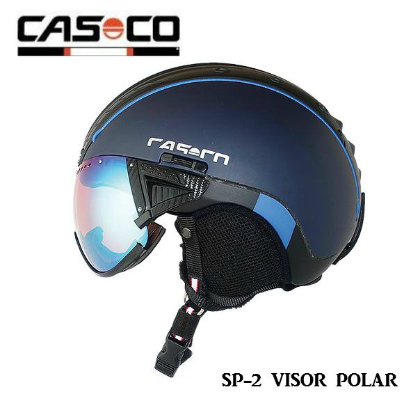 カスコ CASCO SP-2 VISOR POLAR 3718 Navy カスコ スノー ヘルメット バイザー付 ハードケース入 サイズL