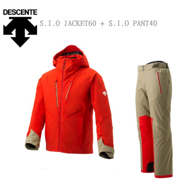 【お買物マラソン期間P5倍】2019 2020 DESCENTE デサント DWUOJK53 S.I.O JACKET 60/DWUOJD53 S.I.O PANTS 40 スキーウェア Sサイズ 上下セット 即納品