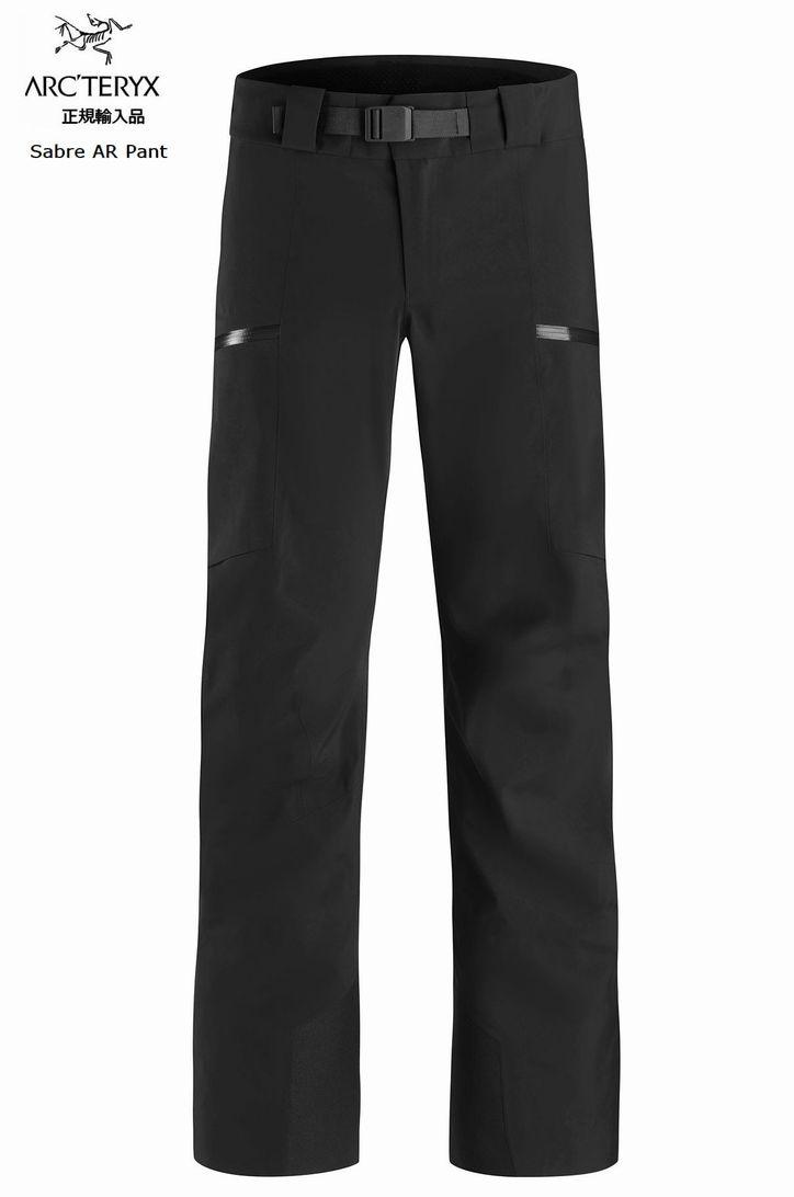【お買物マラソン期間P5倍】<予約販売>ARCTERYX アークテリクス WHITELINE ホワイトライン Sabre AR Pant Mens Black スキー スノボ スノーボード シェルパンツ ゴアテックス