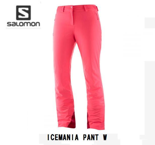 サロモン 2020 SALOMON ICEMANIA PANT Women LC1211700 Coral ASIAN LENGTH スキーウェア パンツ レディス