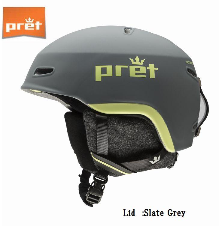 プレット 2020 Pret Lid SlateGrey リッド スキー ヘルメット スノボ スノーボード