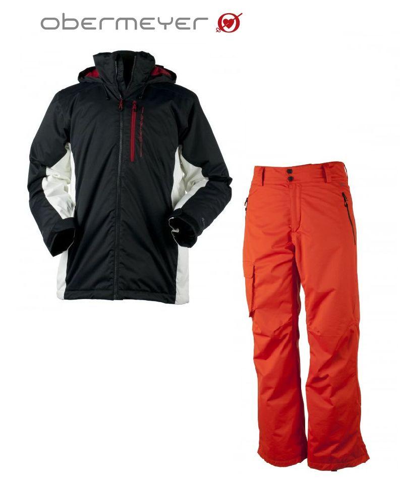 【OBERMEYER】オバマイヤー メンズ高機能スキーウェアFoundation Jacket&Pantsセット/スキーウェア/男性用/スキー/スノボ☆送料無料