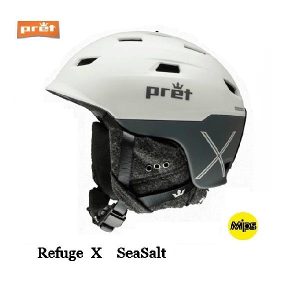 Pret プレット Refuge X レフィージ スキー ヘルメット SeaSalt スノボ スノーボード MIPS