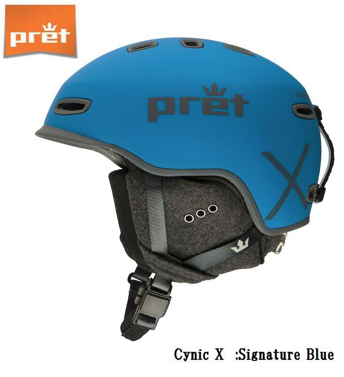 プレット 2020 Pret Cynic X SignatureBlue MIPS シニックX スキー ヘルメット スノボ スノーボード