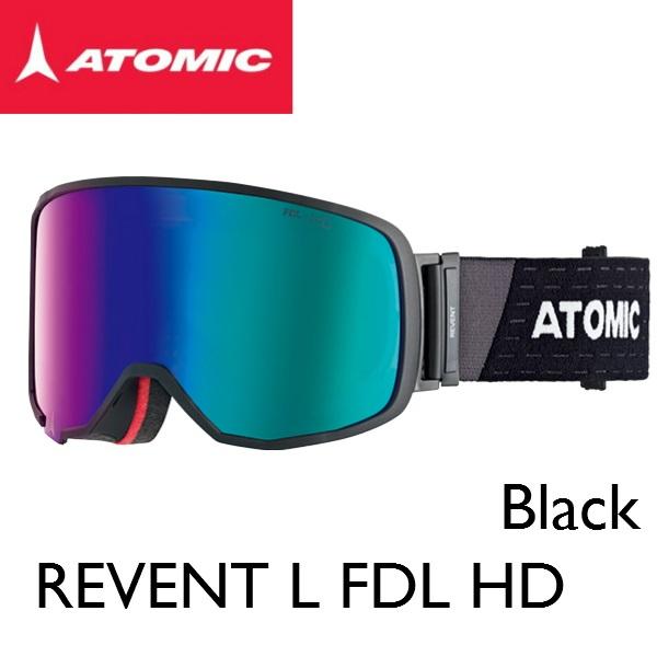 スキー ゴーグル ATOMIC アトミック REVENT L FDL HD BLACK スノボ スノーボード