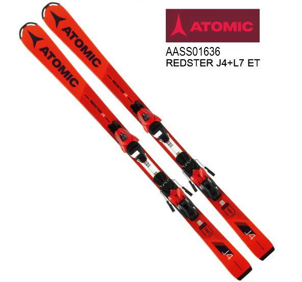 アトミック 2018 2019 ATOMIC REDSTER J4 + L7 ET  レッドスター こども 子供 キッズ KIDS ジュニア スキー セットスキー 送料無料