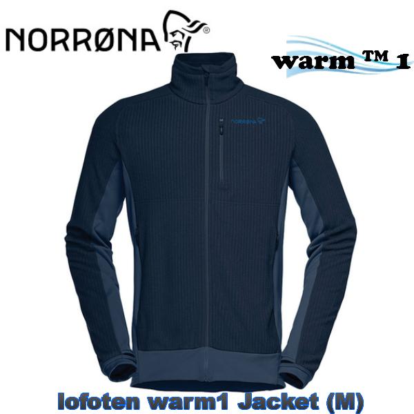 【お買物マラソン期間P5倍】【NORRONA】ノローナlofoten warm1 Jacket Men Indigo Night ロフォテン スキー スノボ スノーボード 男性 BC バックカントリー フリース